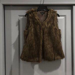 Rue 21 Brown Faux Fur Vest